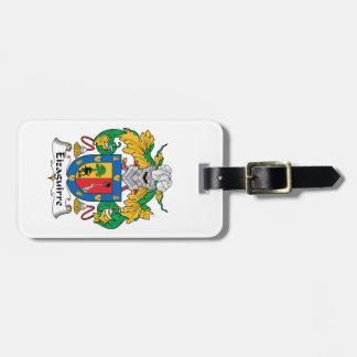 Escudo de la familia de Eizaguirre Etiquetas De Equipaje