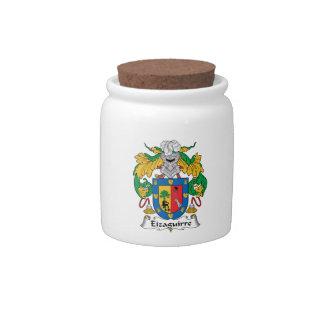 Escudo de la familia de Eizaguirre Jarra Para Caramelo