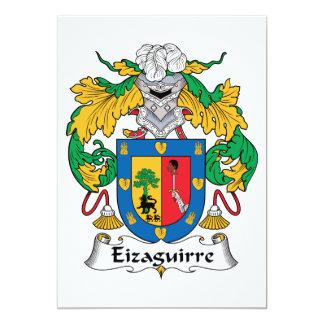 """Escudo de la familia de Eizaguirre Invitación 5"""" X 7"""""""