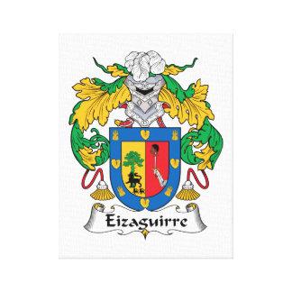 Escudo de la familia de Eizaguirre Impresiones En Lienzo Estiradas