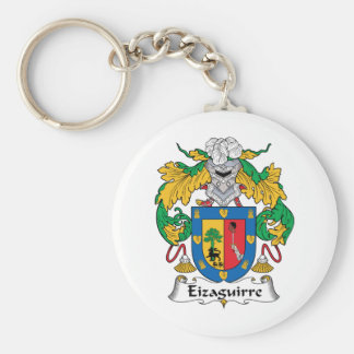 Escudo de la familia de Eizaguirre Llavero Redondo Tipo Pin