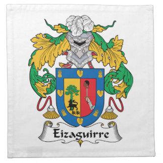 Escudo de la familia de Eizaguirre Servilletas