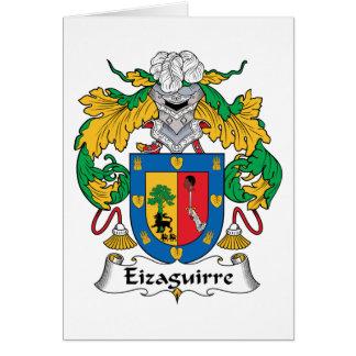 Escudo de la familia de Eizaguirre Tarjeta De Felicitación