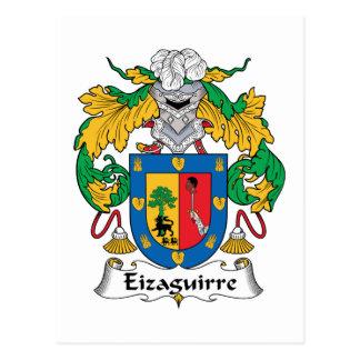 Escudo de la familia de Eizaguirre Postal