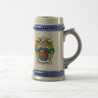 Escudo de la familia de Eizaguirre Jarra De Cerveza