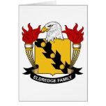Escudo de la familia de Eldredge Felicitacion