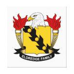 Escudo de la familia de Eldredge Impresion De Lienzo