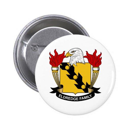 Escudo de la familia de Eldredge Pin Redondo 5 Cm