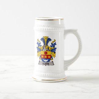 Escudo de la familia de Elers Tazas De Café