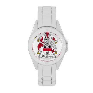 Escudo de la familia de Elingham Reloj