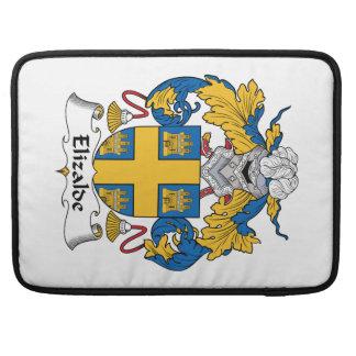Escudo de la familia de Elizalde Funda Para Macbook Pro
