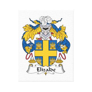 Escudo de la familia de Elizalde Impresión En Lienzo