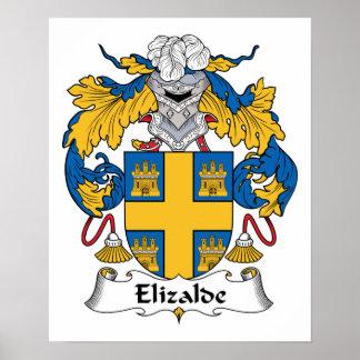 Escudo de la familia de Elizalde Impresiones