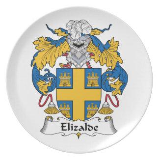 Escudo de la familia de Elizalde Plato Para Fiesta