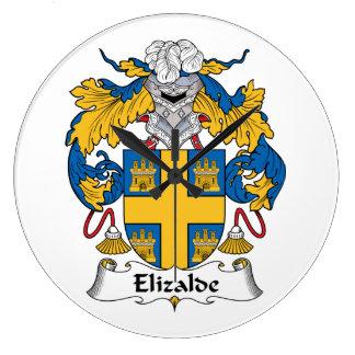 Escudo de la familia de Elizalde Reloj De Pared
