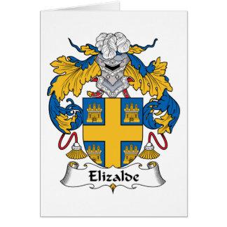 Escudo de la familia de Elizalde Tarjeta De Felicitación