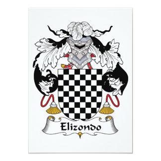 """Escudo de la familia de Elizondo Invitación 5"""" X 7"""""""