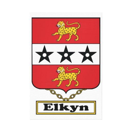 Escudo de la familia de Elkyn Lona Envuelta Para Galerías