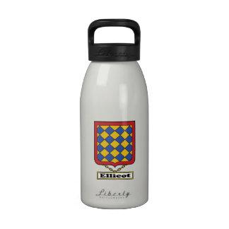 Escudo de la familia de Ellicot Botella De Beber
