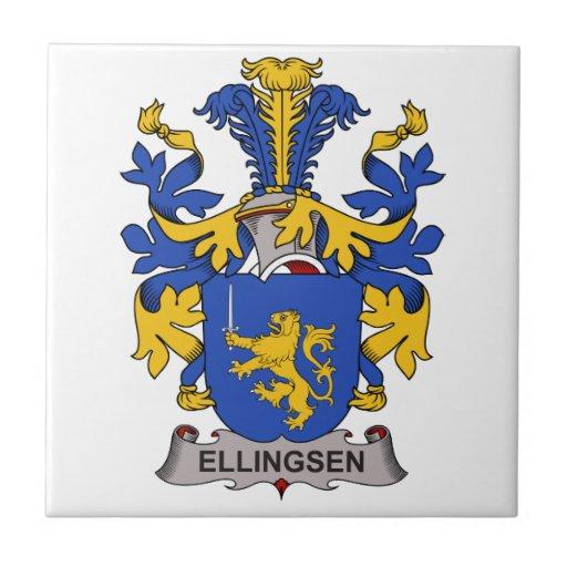 Escudo de la familia de Ellingsen Azulejo Cuadrado Pequeño