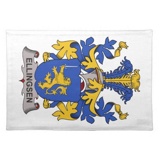 Escudo de la familia de Ellingsen Mantel