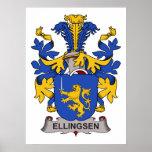 Escudo de la familia de Ellingsen Posters