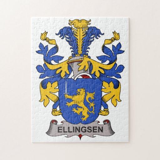 Escudo de la familia de Ellingsen Rompecabezas Con Fotos