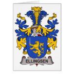 Escudo de la familia de Ellingsen Tarjeta
