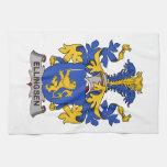 Escudo de la familia de Ellingsen Toallas