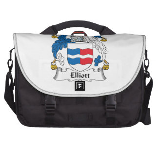 Escudo de la familia de Elliott Bolsas Para Ordenador