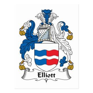 Escudo de la familia de Elliott Tarjeta Postal