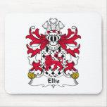 Escudo de la familia de Ellis Tapetes De Ratón