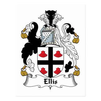 Escudo de la familia de Ellis Tarjeta Postal