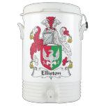 Escudo de la familia de Elliston Enfriador De Bebida Igloo