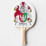 Escudo de la familia de Elliston Pala De Ping Pong