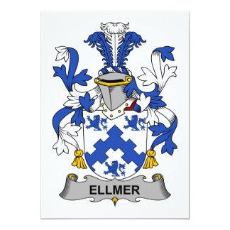 """Escudo de la familia de Ellmer Invitación 5"""" X 7"""""""