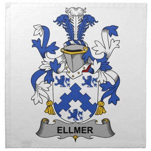 Escudo de la familia de Ellmer Servilletas Imprimidas