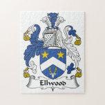 Escudo de la familia de Ellwood Puzzle Con Fotos