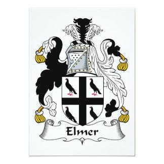 Escudo de la familia de Elmer Invitación 12,7 X 17,8 Cm