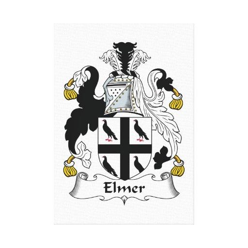 Escudo de la familia de Elmer Lienzo Envuelto Para Galerías