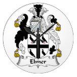 Escudo de la familia de Elmer Reloj De Pared