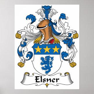 Escudo de la familia de Elsner Posters