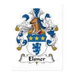 Escudo de la familia de Elsner Postales