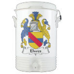 Escudo de la familia de Elwes Enfriador De Bebida Igloo