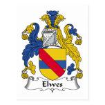 Escudo de la familia de Elwes Postal