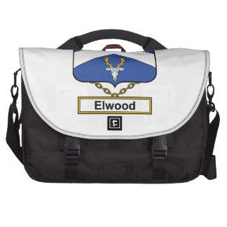 Escudo de la familia de Elwood Bolsas Para Portatil