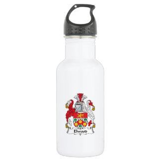 Escudo de la familia de Elwood Botella De Agua