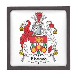Escudo de la familia de Elwood Cajas De Recuerdo De Calidad