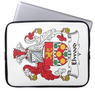Escudo de la familia de Elwood Funda Portátil