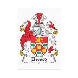 Escudo de la familia de Elwood Impresion De Lienzo